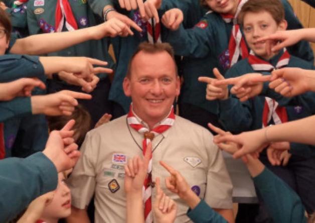 Jeremy winning silver acorn